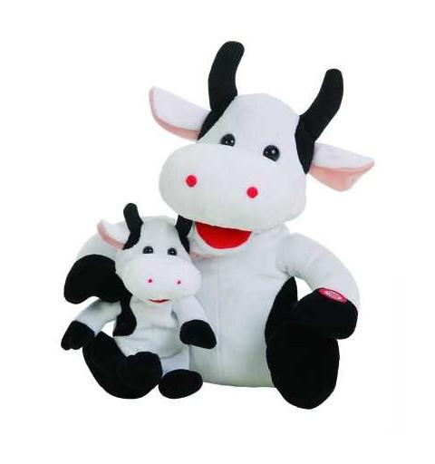 Vaca Mami Con Bebe Canta Para Mama Caja-Pilas 26 cm.