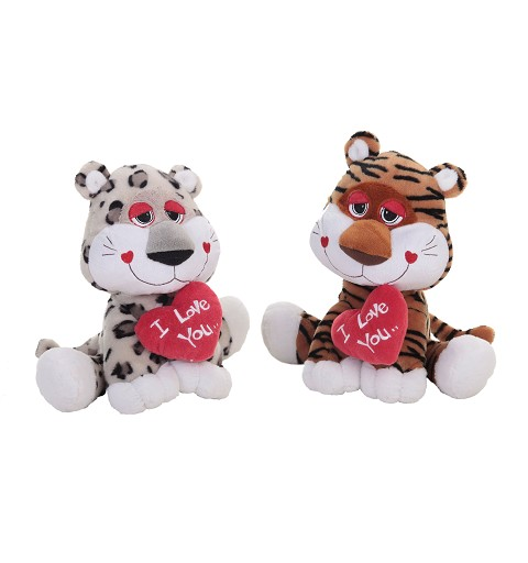Tigre-Leon-Perro-Leopardo Corazon 32Cm