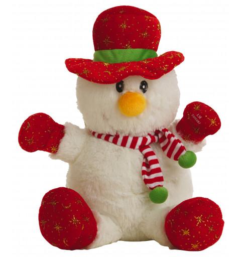 Muñeco de Nieve Sonido Navidad 60 cm