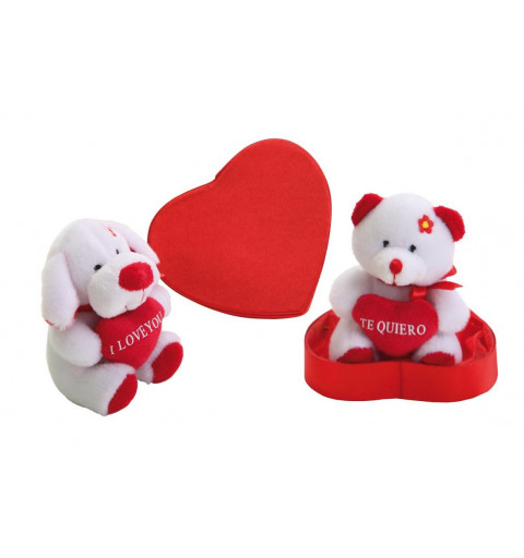12 Peluches 18 cm Base Corazon