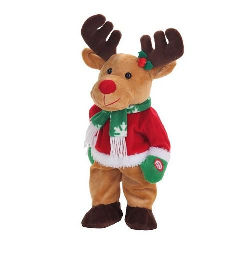 Reno Bailarin Navidad con Pilas 40 cm.
