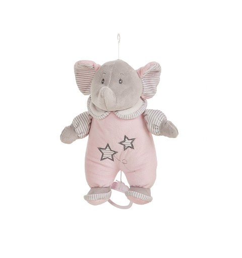 Peluche Elefante Rosa 26Cm...