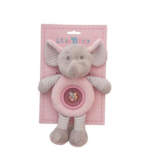 Sonajero Bolita Elefante Rosa 25Cm