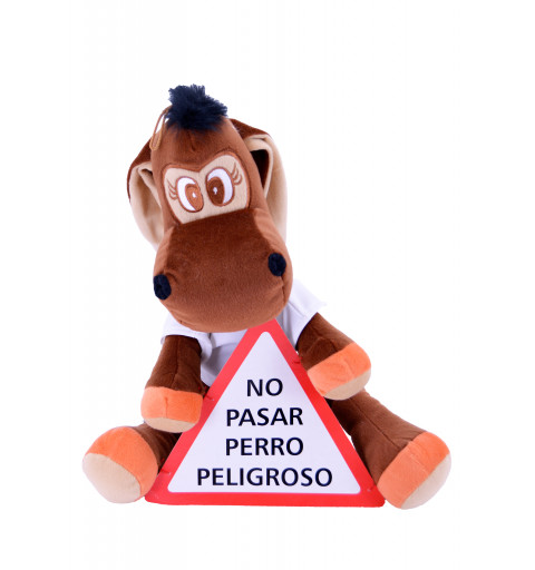 Burro No Pasar Perro Peligroso 45 cm