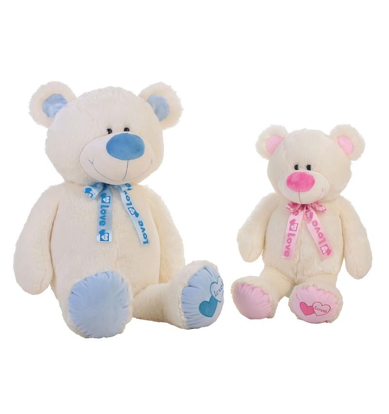 Oso Baby Azul y Rosa