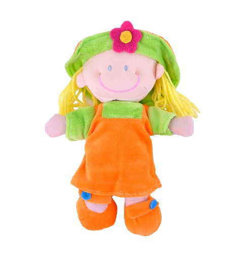 Muñeca Vestido Naranja/Verde 20 cm
