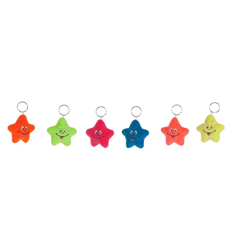 Llavero Fluor Estrellas 9 cm