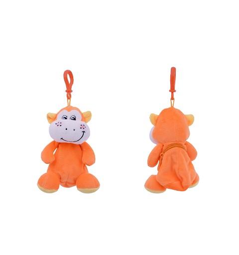 Llavero Peluche Naranja con Bolsillo 18 cm