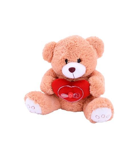 Oso Marrón Corazón Rojo Ventilador 56 cm