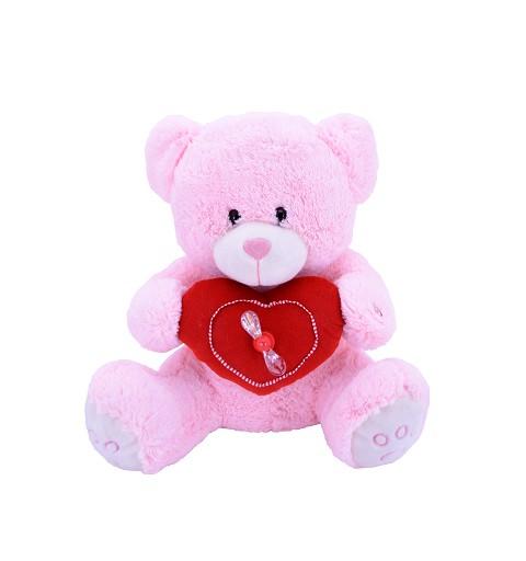 Oso Rosa Corazón C/Ventilador 56 cm