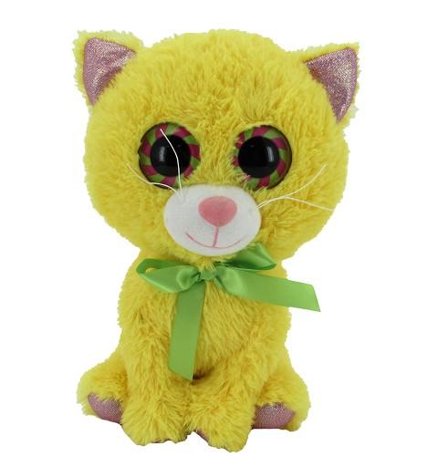 Gato Amarillo/Rosa 24 Cms