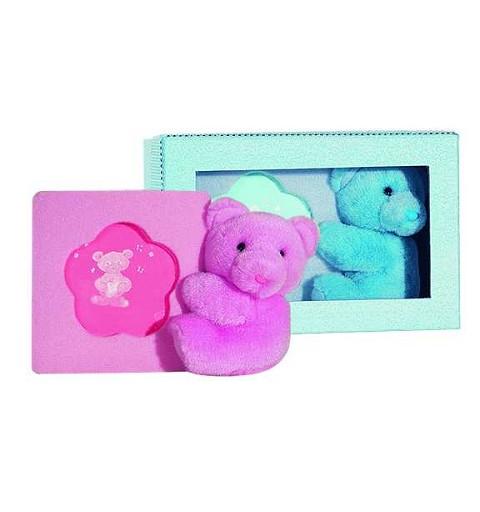 Caja Cuadrada 2 Colores C/Peluche Portafotos 25 cm de alto