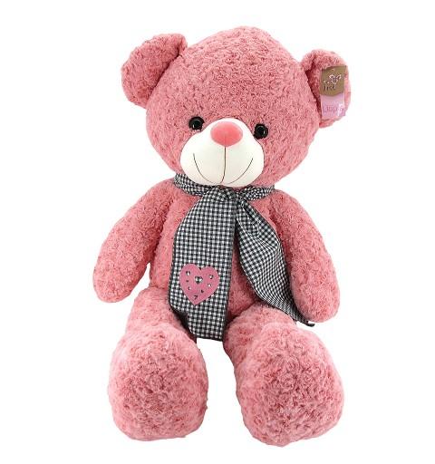 Oso Pelo Rizado Rosa 100 CM