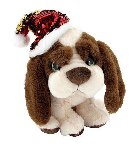 Perro Ojotes Verdes Navidad 26 cm