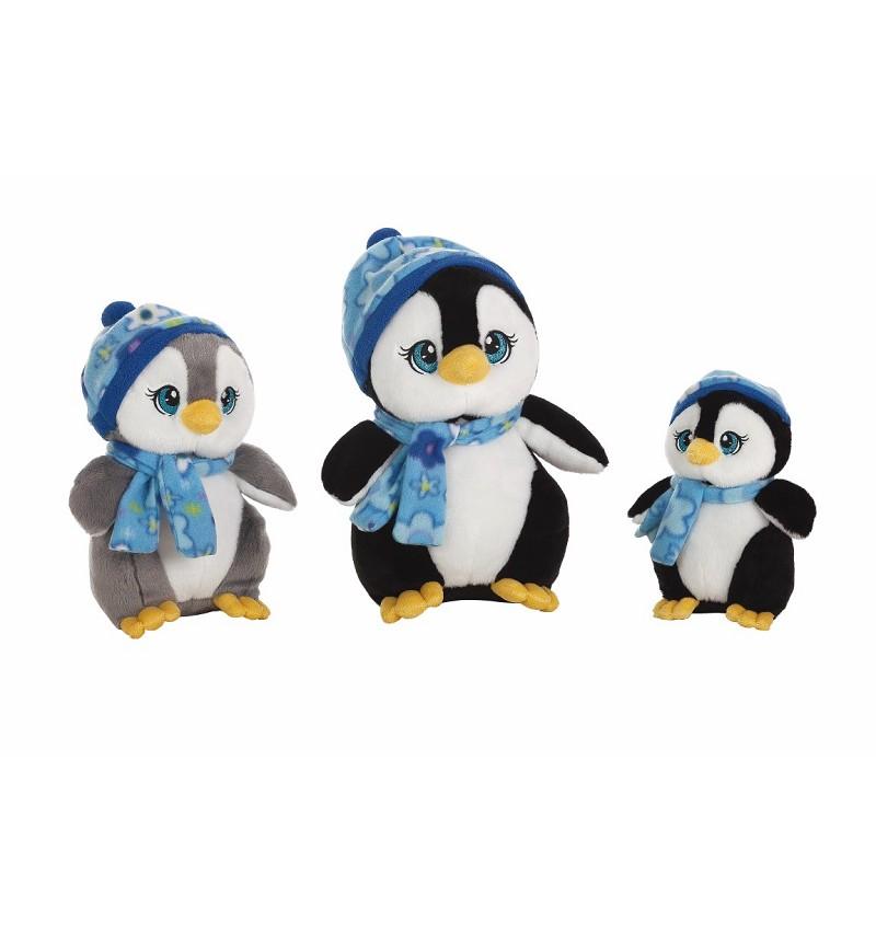 Pingüino Ojos Purpurina 30Cm.