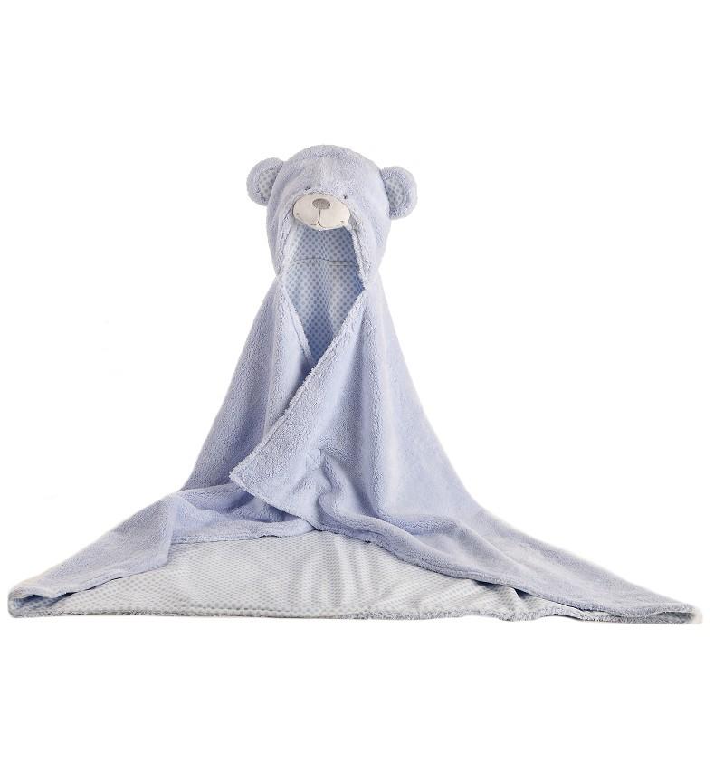 Capita de Baño Oso Azul 100 x 75 cm
