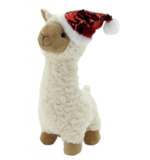 Llama de Peluche Nina Navidad