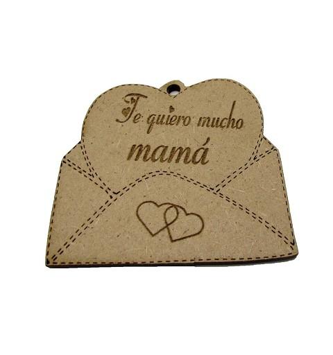 """Sobre Madera """"Te quiero..."""