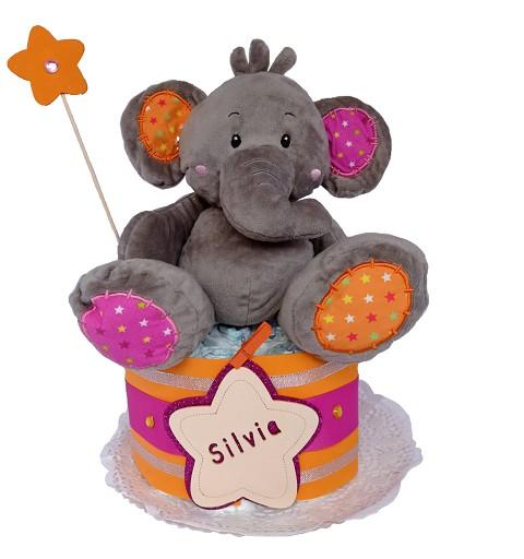 Tarta de Pañales Elefante...