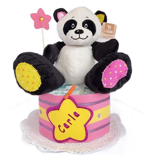 Tarta de Pañales Oso Panda...