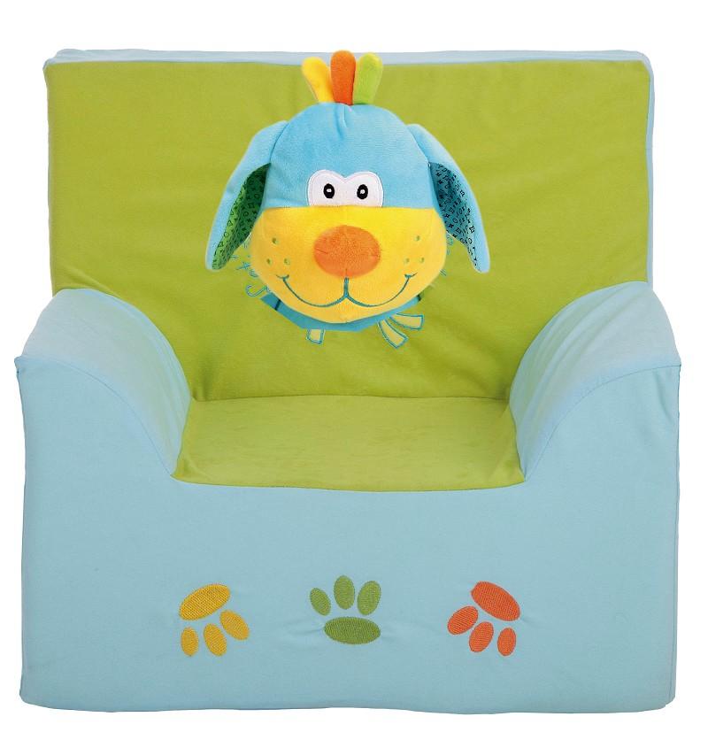 Sillon Azul y Verde Perrito 44X38X47,