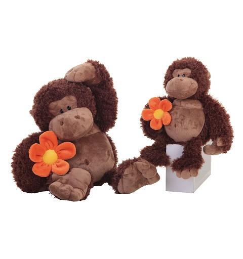 Mono de Peluche con Flor