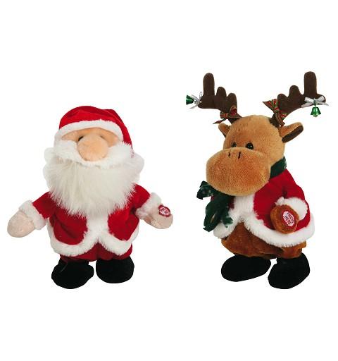 Reno - Papa Noel Surtidos 20 cm Pilas