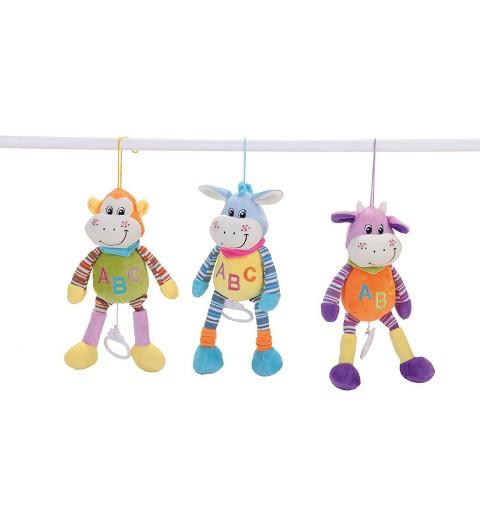 Animales Multicolor Musical Surtido de 6 unidades 30 cm.
